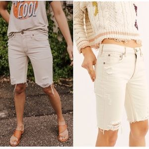 NWT Free People Caroline Jean Shorts White Size 25